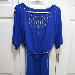 Thalia Sodi Studded Cold Shoulder Dress NWT